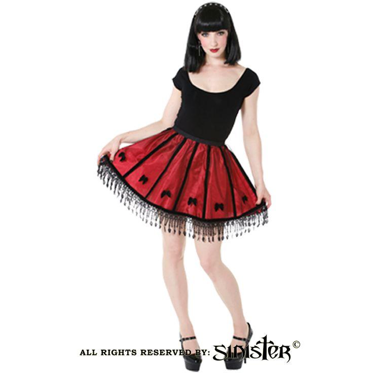Gothic net petticoat miniskirt by Sinister (Skirt 791) www.sinister.nl