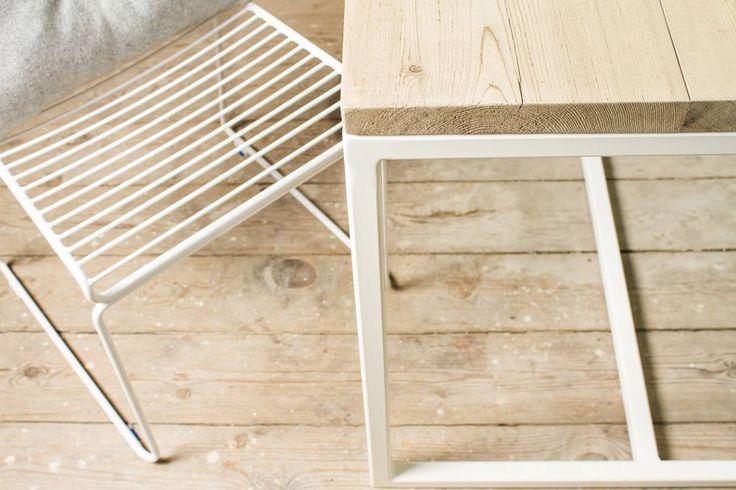 """""""Esbjerg Garten"""" - Tisch aus Uferholz mit Untergestell aus Stahl"""