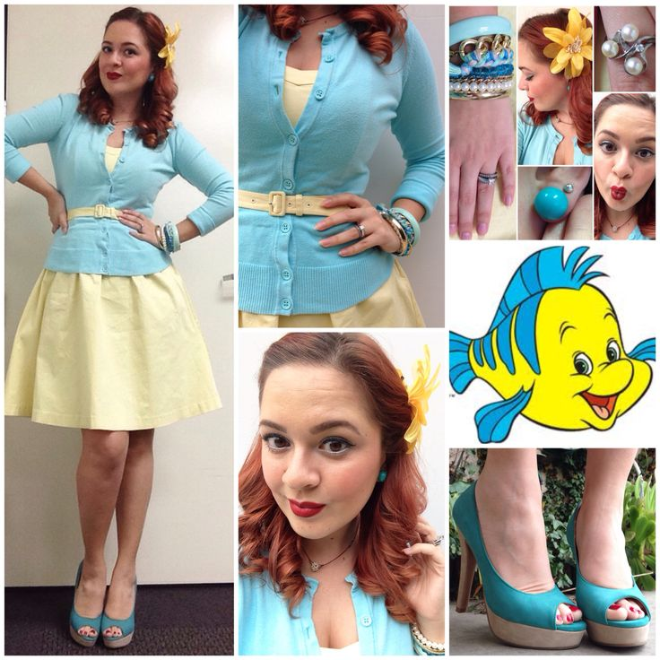 """I'm not a guppy."" - Flounder Disneybound from The Little Mermaid."