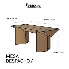 Kartelier muebles de cart n mesa de despacho de cart n - Muebles de despacho ...