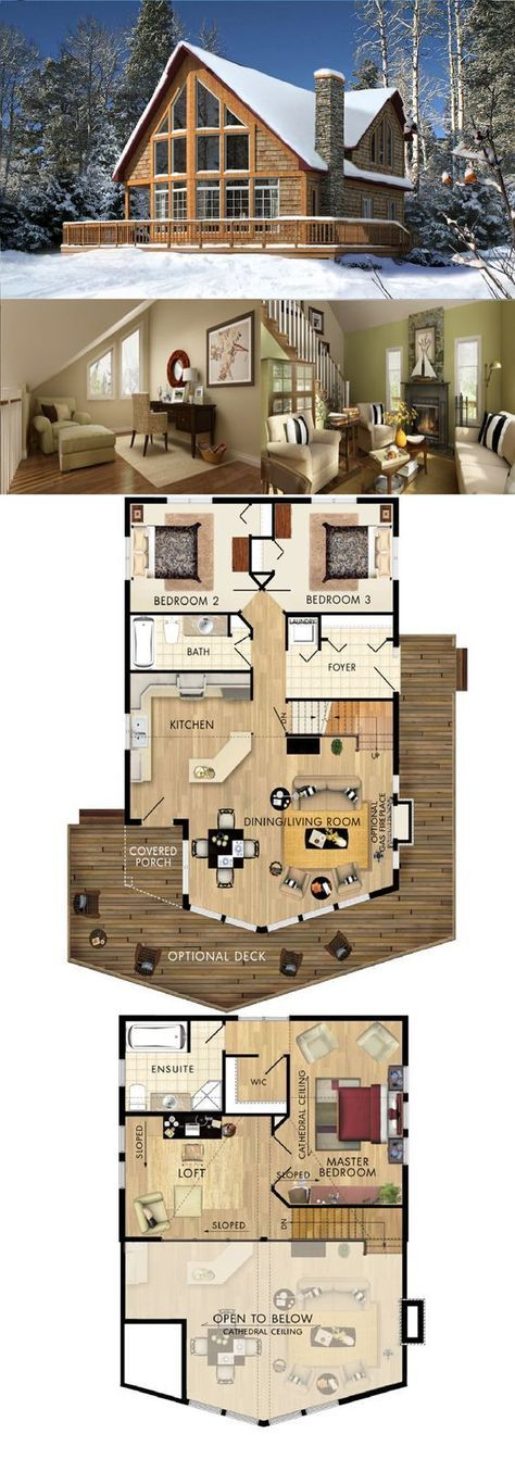 55+ New Ideas House Design Ideas Floor Plans Log C…
