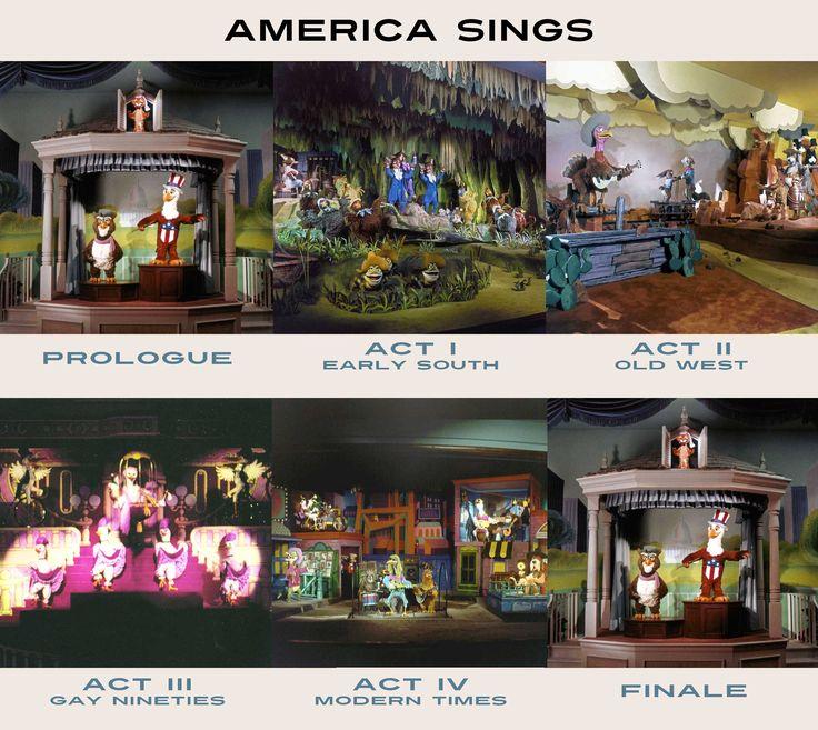 America Sings, Disneyland  (This closed on my last day working at Disneyland in 1988!)