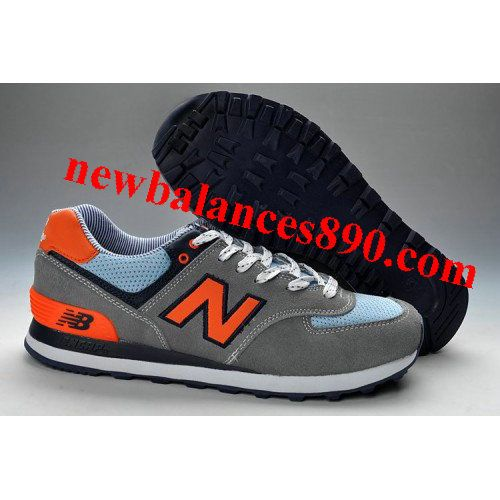 Buy Hot New Balance 574 Mens Orange Grey Blue Shoes from Reliable Hot New  Balance 574 Mens Orange Grey Blue Shoes suppliers.Find Quality Hot New  Balance 574 ...