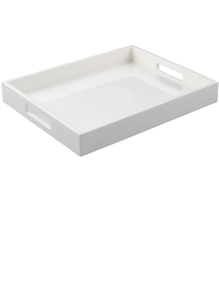 White Trays | White Coffee Table Tray | White Coffee Table Trays | White Ottoman  Trays