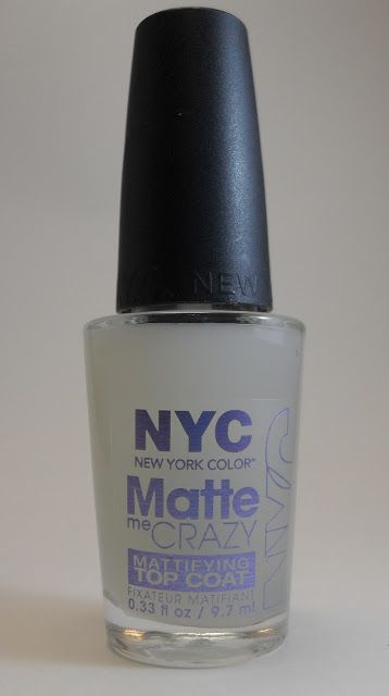 NYC Matte Me Crazy topcoat - fabulous and under two dollars!