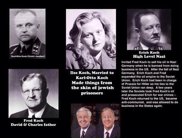 The connection between the Koch Brothers, whose father founded the John Birch…