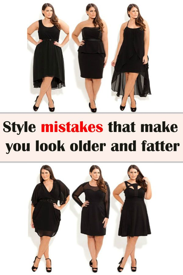 Style mistakes that make you look older and fatter - FeminineTips.net