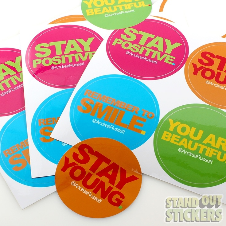 Rectangle Vinyl Stickers with 4 Circle Kisscuts