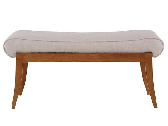 Robert Saddle Bench 42  Transitional, Upholstery  Fabric, Bench by Lee Jofa