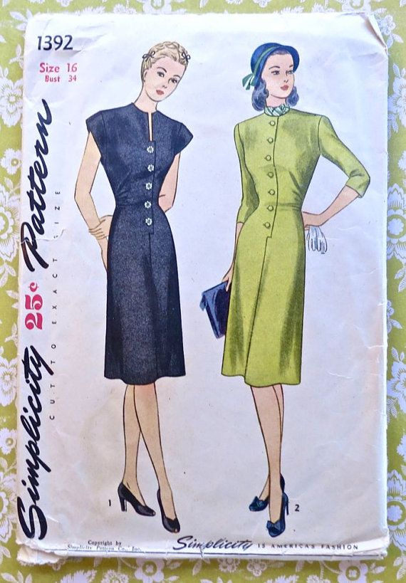 Images about womens fashion 1946 on pinterest 1940s vintage sewing
