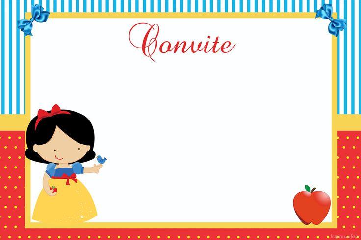 Branca de Neve – Kit festa infantil grátis para imprimir – Inspire sua Festa ®