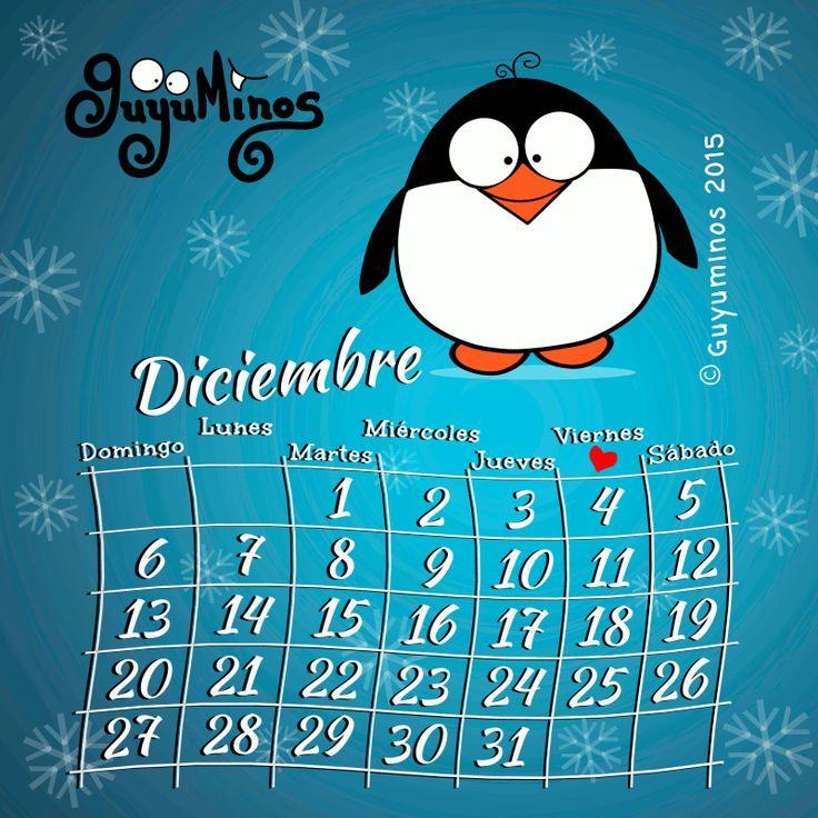 Calendario Diciembre ©Guyuminos 2015. Disfruta cada día de ...