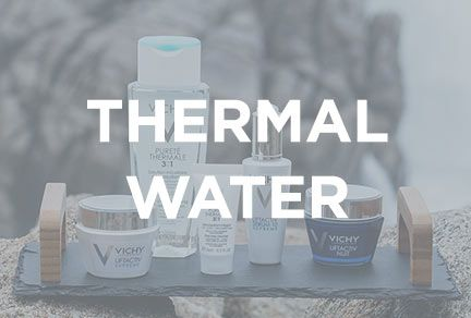 Vichy Mineralizing Thermal Water from the French Volcanoes is the core active ingredient integrated in all Vichy products.
