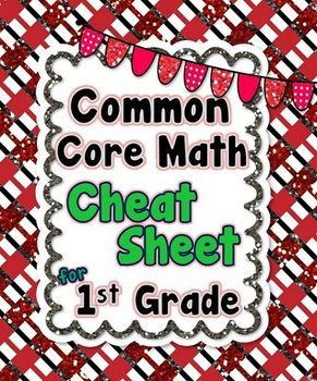 1st Grade Common Core Math Standards CHEAT SHEET (ALL standards)