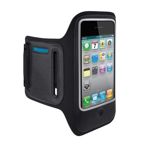 Belkin DualFit Sportarmband Handy Sport Halterung für Apple iPhone 4 schwarz NEU