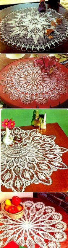 Коллекция салфеток из журнала Crochet tablecloth - САМОБРАНОЧКА рукодельницам, мастерицам