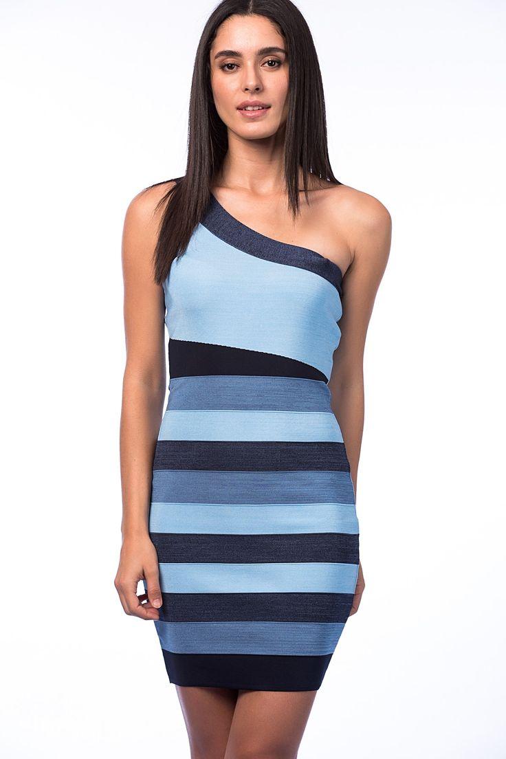 Kadın Mavi Elbise Azim Triko | Trendyol