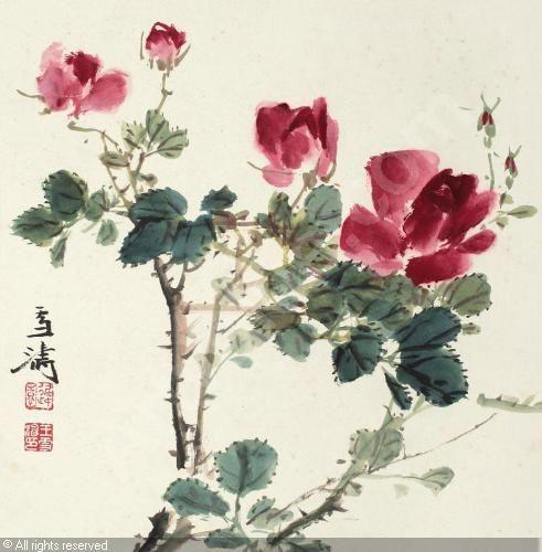 Yang Shanshen (1913-2004) Roses
