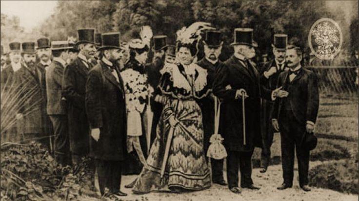 La principessa Margherita e il principe Umberto con Vittorio Ingegnoli - Princess Margaret and Prince Umberto with Vittorio Ingegnoli