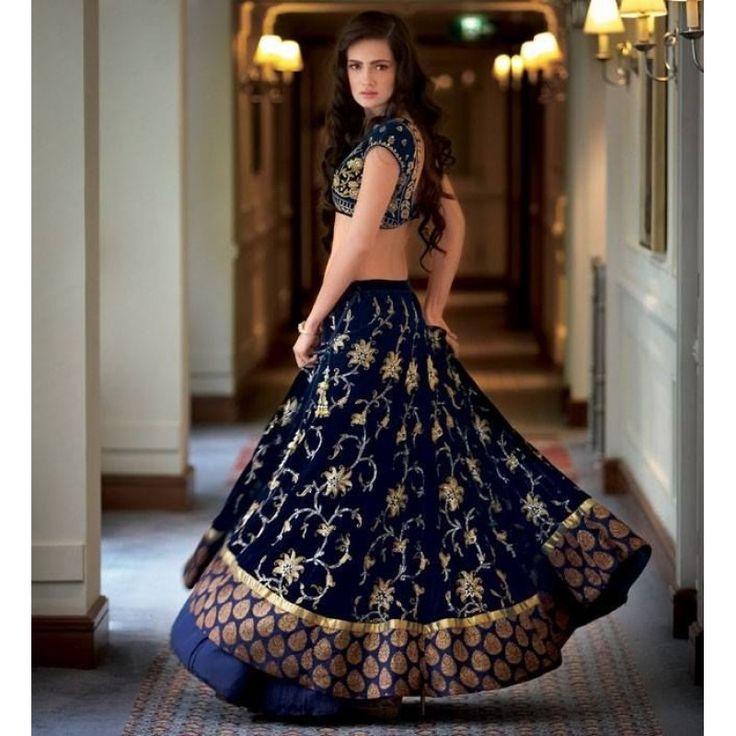 Bollywood Replica-Designer Alluring Blue Embroidered Wedding Wear Lehenga Choli-9307( SIA-9200 )