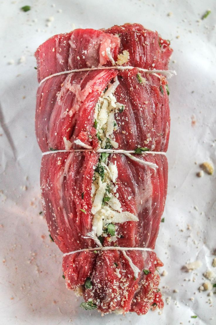 An easy to prepare recipe for Braciole with parmesan, provolone, breadcrumbs, garlic, and parsley. This recipe takes just 20 minutes to active prep time!