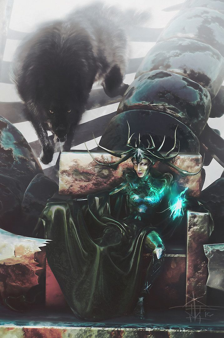 Hela Fanart by Xteve Abanto ( The Asgardian goddess of death ) Follow The Best Comics Artwork Blog on Tumblr