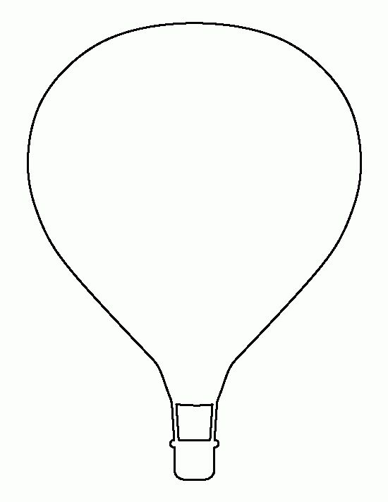 Printable Hot Air Balloon Template Within Hot Air Balloon Template