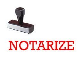 "#Notarize #Rubber #Stamp. Are you looking for notary stamps online? This regular rubber hand stamp features the phrase ""Notarize"". Add this stamp to your notary supplies!"