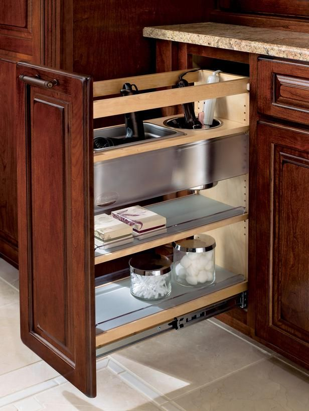 Pull-Out Bathroom Storage >> http://www.hgtvremodels.com/kitchens/cozy-country-kitchen-designs/pictures/index.html?soc=pinterest