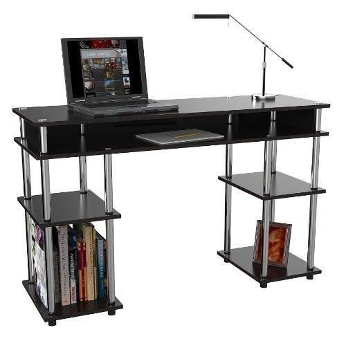 Convenience Concepts Modern No Tools Student Desk Black