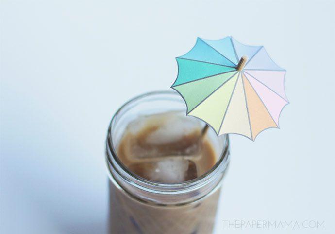 Mini parasols en carton pour vos boissons de l'été – DIY déco