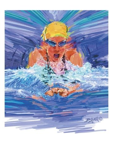 Idea: to paint one of Ansley M. photos from aub swim meet
