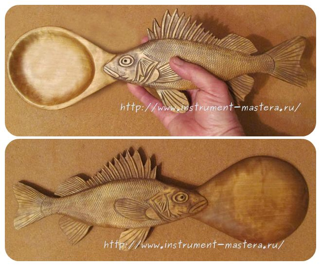 Декоративные резные деревянные ложки Ёрши Сабанеева