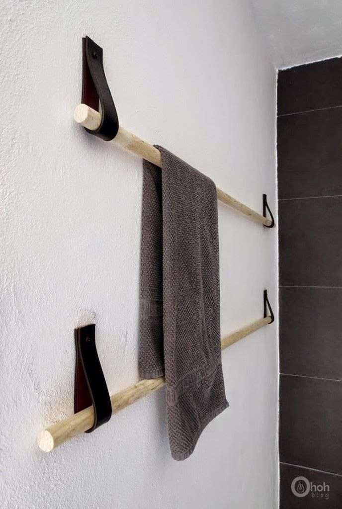 Diy-towel-holder-upcycled-belt