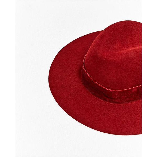 HAT MED BREDT BÅND I VELOUR - Se alle varer-TILBEHØR-DAME | ZARA... (38 CAD) ❤ liked on Polyvore featuring accessories, hats and velour hat