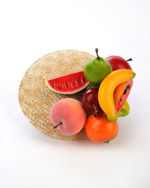 FRUIT COCKTAIL HAT Here we have a fruit cocktail hat with the fruit clips from our top selling collection and are the latest addition to our