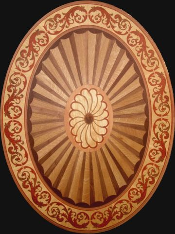 Marquetry | Renaissance Floor Medallion wood inlays marquetry