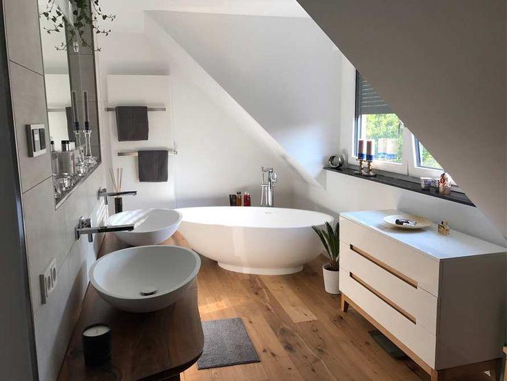 Freistehende Badewanne Campione aus Mineralguss – Weiß matt oder glänzend