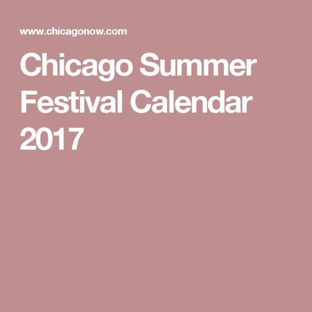 Chicago Summer Festival Calendar 2017