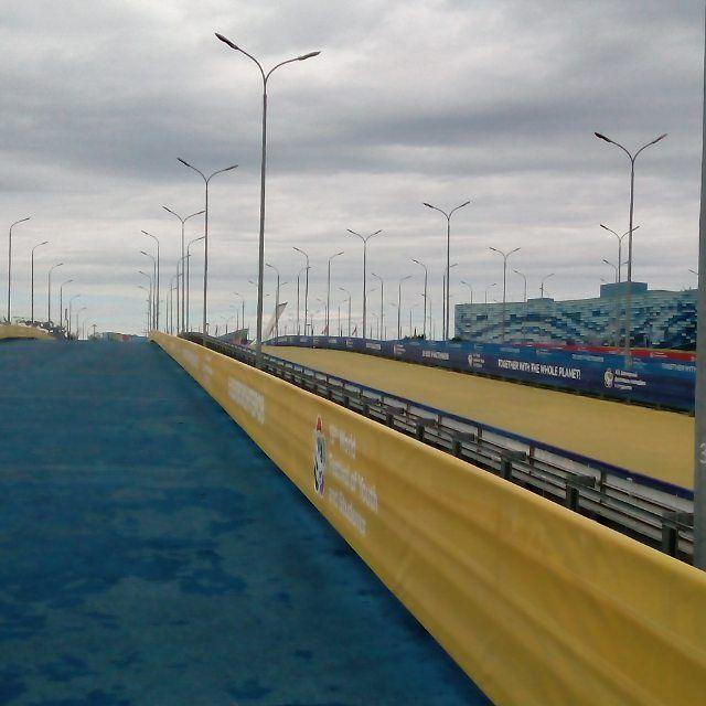 Всегда были против политики, но нельзя удержаться. Вот такая Украина на территории Олимпийского парка - это Радужный мост.  #украина #украина🇺🇦 #незалежна #незалежність #мост #полоса #желтый #синий #флаг #нетрадиционно #однако #однакоманда #wfca #wftdaplayoffs #wf #wfayopassenger {{AutoHashTags}}