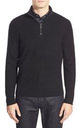 Kent and CurwenMock Neck Quarter Zip Cashmere Sweater