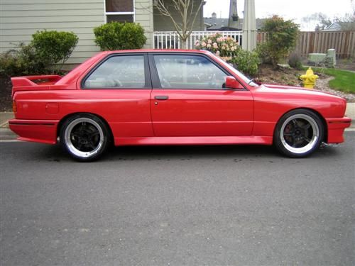 Red and Black Rims for Sale | 1990 E30 M3 BMW For Sale in PNW: Only 79k Miles!