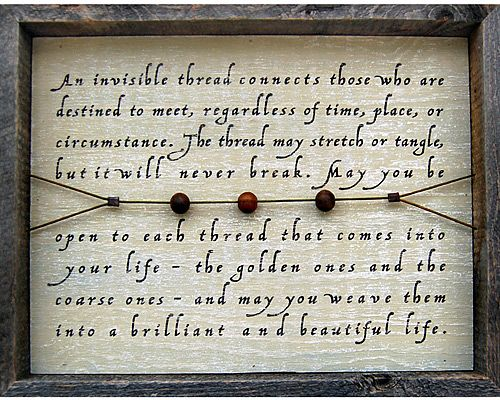 INVISIBLE THREAD - REBECCA PUIG | Rebecca Puig, Chinese Proverb, Home Decor | UncommonGoods