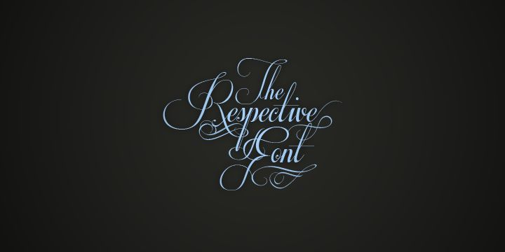 Respective font by Måns Grebäck - FontSpace