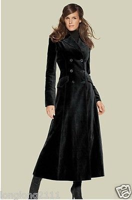 Fashion Women's Double Breasted Wool Blend Overcoat Slim Fit Super Long Coat   eBay