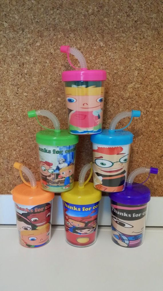 Little Einsteins Personalized Party Favor Cups by MehareyDesigns, These cups are great to put treats inside of them or to put inside of your party bags as a gift.You can have your child's name or whatever wording you like