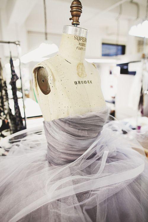 somethingvain:    Oscar De La Renta F/W 2012 RTW, backstage with the 'Cloud' dress