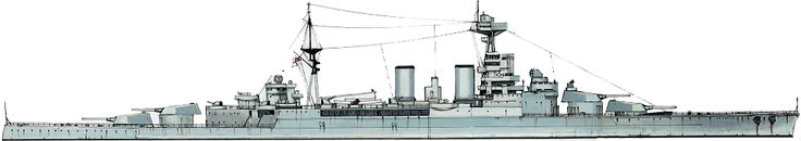 Famous 15 in late WW1 vintage British battlecruiser HMS Hood, the largest ever built, in her final 1941 guise.  Modern German battleship Bismarck disposed of her in a few salvoes on May 24 that year.
