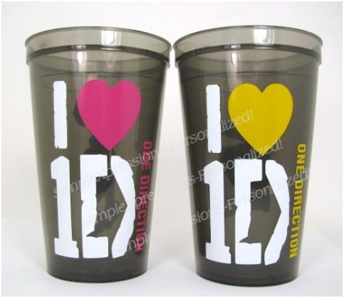 I Love 1 Direction Personalized kids tumbler cup. $10.00, via Etsy.