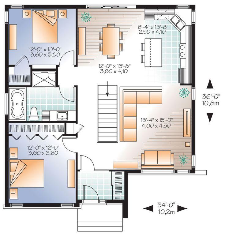 30 best Plan de maison images on Pinterest House template, Modern - plan maison plain pied 80m2